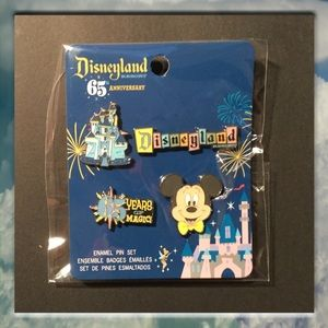 Disneyland 65th Anniversary Pin Set